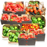 Fresh Peppers, Okro & Tomatoes
