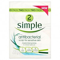 Simple Anti-Bacterial Soap 2x125g