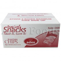 Ades Plantain Chips Sweet Chilli Box 30g X 120