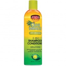 African Pride  Olive Miracle 2 in 1 Shampoo & Conditioner - 12oz