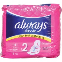 Always Classic Maxi Wings - 9 Pads