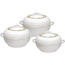 Ambiente Casserole Set Insulated Food Warmer Round Thermal Hotpot - 3 Pcs Set
