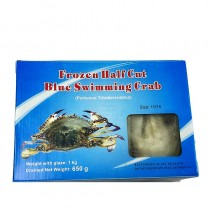 Frozen Half Cut Blue Crab 1kg