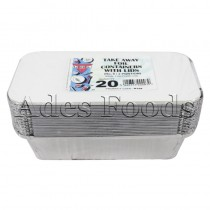 Take Away Foil Container 6/2 20 pieces